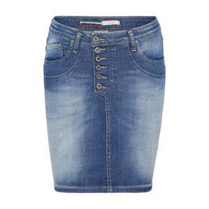 PLEASE Sukně 'skirt'  modrá džínovina