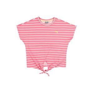 PUMA Funkční tričko  bílá / pink