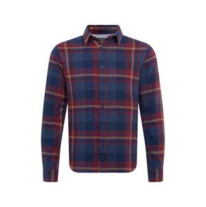 SELECTED HOMME Košile 'SLHREGGUNNAR'  námořnická modř / starobéžová / vínově červená / červená