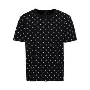 Calvin Klein Jeans Tričko 'SMALL MONOGRAM AOP '  černá / bílá