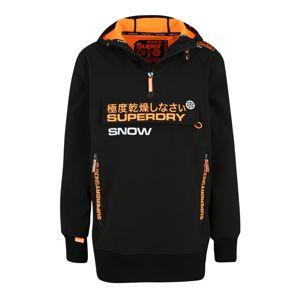 Superdry Snow Sportovní mikina 'SNOW TECH HALF ZIPHOOD'  oranžová / černá