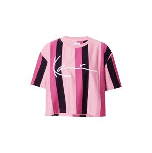 Karl Kani Tričko  černá / světle růžová / pink