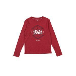 Jack & Jones Junior Tričko  červená / bílá