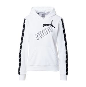 PUMA Sportovní mikina 'Amplified'  černá / bílá