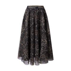 10Days Sukně  khaki / černá