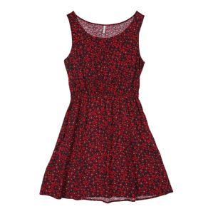 KIDS ONLY Šaty 'KONELLA S/L DRESS WVN'  červená / tmavě modrá
