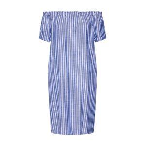 STREET ONE Letní šaty 'EOS yarn dyed striped Carmen D'  modrá