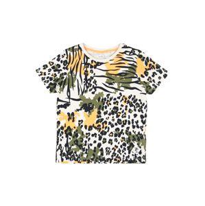 NAME IT Tričko  černá / zelená / žlutá / světle šedá / oranžová