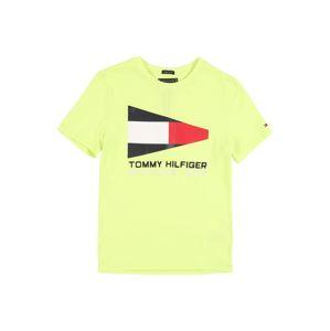 TOMMY HILFIGER Tričko  svítivě žlutá