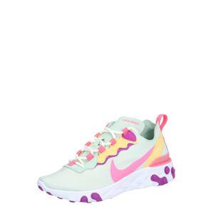 Nike Sportswear Tenisky 'React Element 55'  jasně oranžová / pink / bílá / mátová