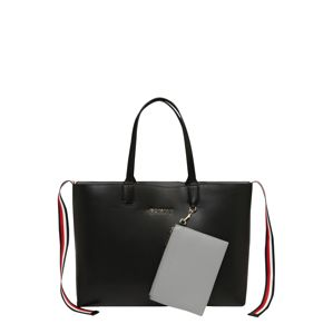 TOMMY HILFIGER Nákupní taška 'Iconic Tommy tote solid'  černá