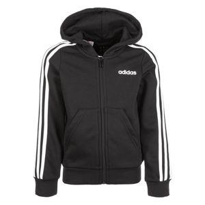 ADIDAS PERFORMANCE Sportovní mikina s kapucí 'YG E 3S FZ HD'  černá / bílá