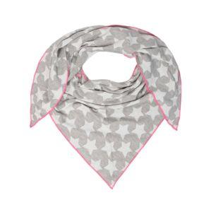 Zwillingsherz Šála  pink / světle šedá / bílá