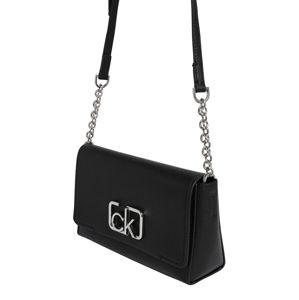 Calvin Klein Taška přes rameno 'CK SIGNATURE FLAP XBODY'  černá