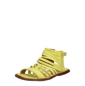 A.S.98 Páskové sandály 'MALIBU'  citronová