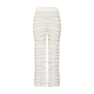 Ragdoll LA Kalhoty 'Zebra Knit Pant'  krémová