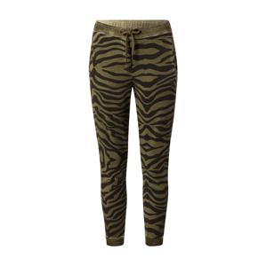 True Religion Kalhoty 'Zebra'  černá / olivová