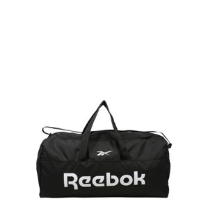 REEBOK Sportovní taška  bílá / černá