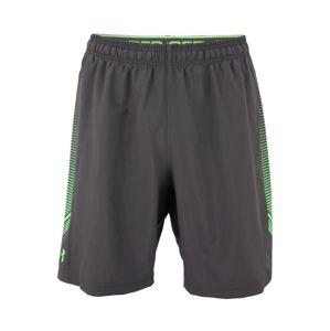 UNDER ARMOUR Sportovní kalhoty 'Woven Graphic'  zelená / tmavě šedá