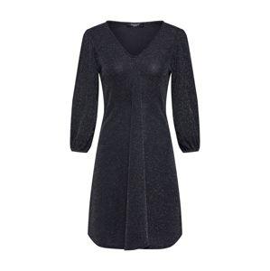 SISTERS POINT Společenské šaty 'NURI-DR'  černá / stříbrná