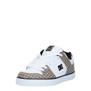 DC Shoes Tenisky  bílá / černá / světle hnědá