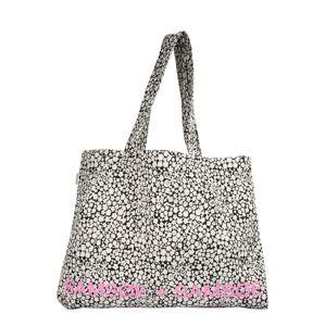 Samsoe Samsoe Nákupní taška  růžová / bílá
