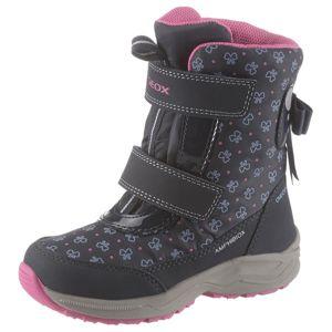 GEOX Sněhule  námořnická modř / šedá / pink