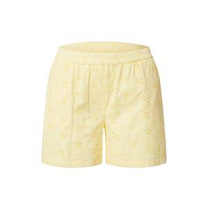 PIECES Kalhoty 'CALONDA'  pastelově žlutá