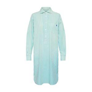 POLO RALPH LAUREN Košilové šaty  zelená / bílá