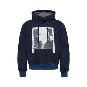 Karl Lagerfeld Denim Mikina 'KLMJ0012'  modrá džínovina