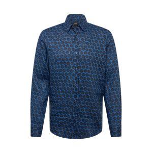 BOSS Košile 'Relegant'  tmavě modrá / černá