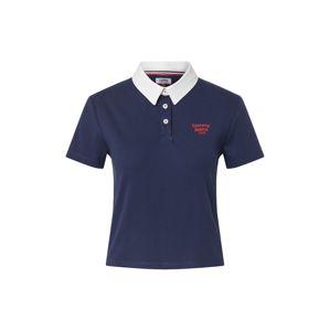 Tommy Jeans Tričko  námořnická modř / bílá