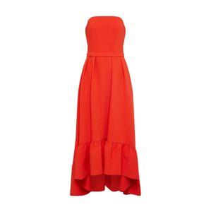 Four Flavor Společenské šaty  oranžově červená