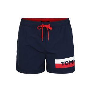 Tommy Hilfiger Underwear Plavecké šortky  modrá / jasně červená / bílá
