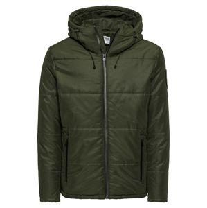 JACK & JONES Zimní bunda  tmavě zelená