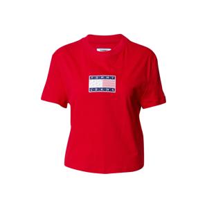 Tommy Jeans Tričko 'Star Americana Flag'  červená