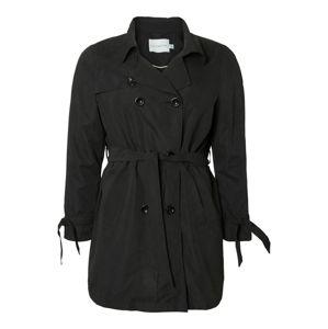 Junarose Přechodný kabát  černá