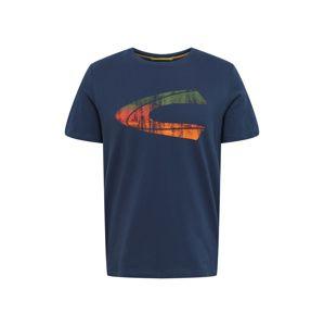 CAMEL ACTIVE Tričko  zelená / tmavě modrá / oranžově červená