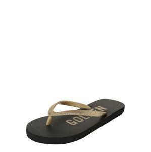 NAME IT Sandály  černá / zlatá