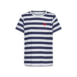 ICHI Tričko 'IXCAROL'  modrá / bílá