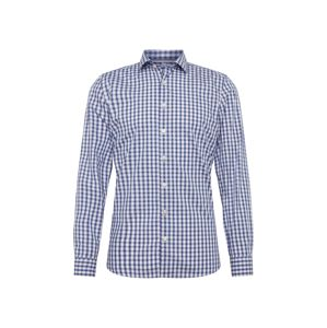 OLYMP Košile 'Level 5 Smart Business Check'  modrá / bílá