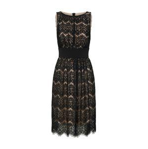 SWING Koktejlové šaty  tělová / černá