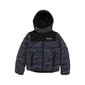 BLUE SEVEN Zimní bunda  černá / chladná modrá
