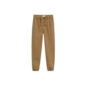 MANGO KIDS Kalhoty  světle hnědá