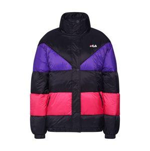 FILA Zimní bunda 'Reilly '  tmavě fialová / tmavě růžová / černá
