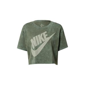 Nike Sportswear Tričko  khaki / bílá