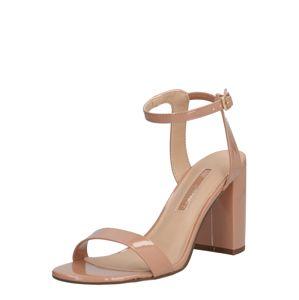Dorothy Perkins Páskové sandály 'Shimmer' Heeled Sandal'  růžová
