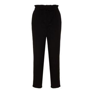 Noisy May Kalhoty se sklady v pase 'Kelsie Paperbag'  černá