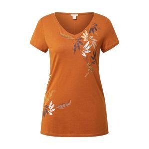 ESPRIT Tričko 'Leaf'  rezavě hnědá
