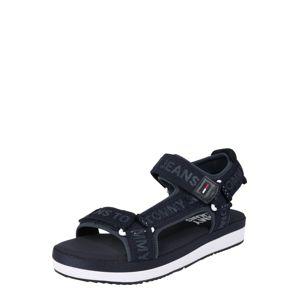 Tommy Jeans Páskové sandály 'SOFIA 7D'  tmavě modrá / černá